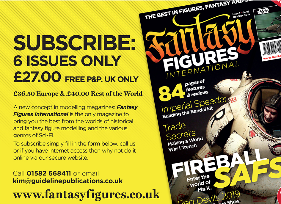 Guideline Publications Fantasy Figures International- 1 Year (6 Issues) Subscription First issue 24th October 2019