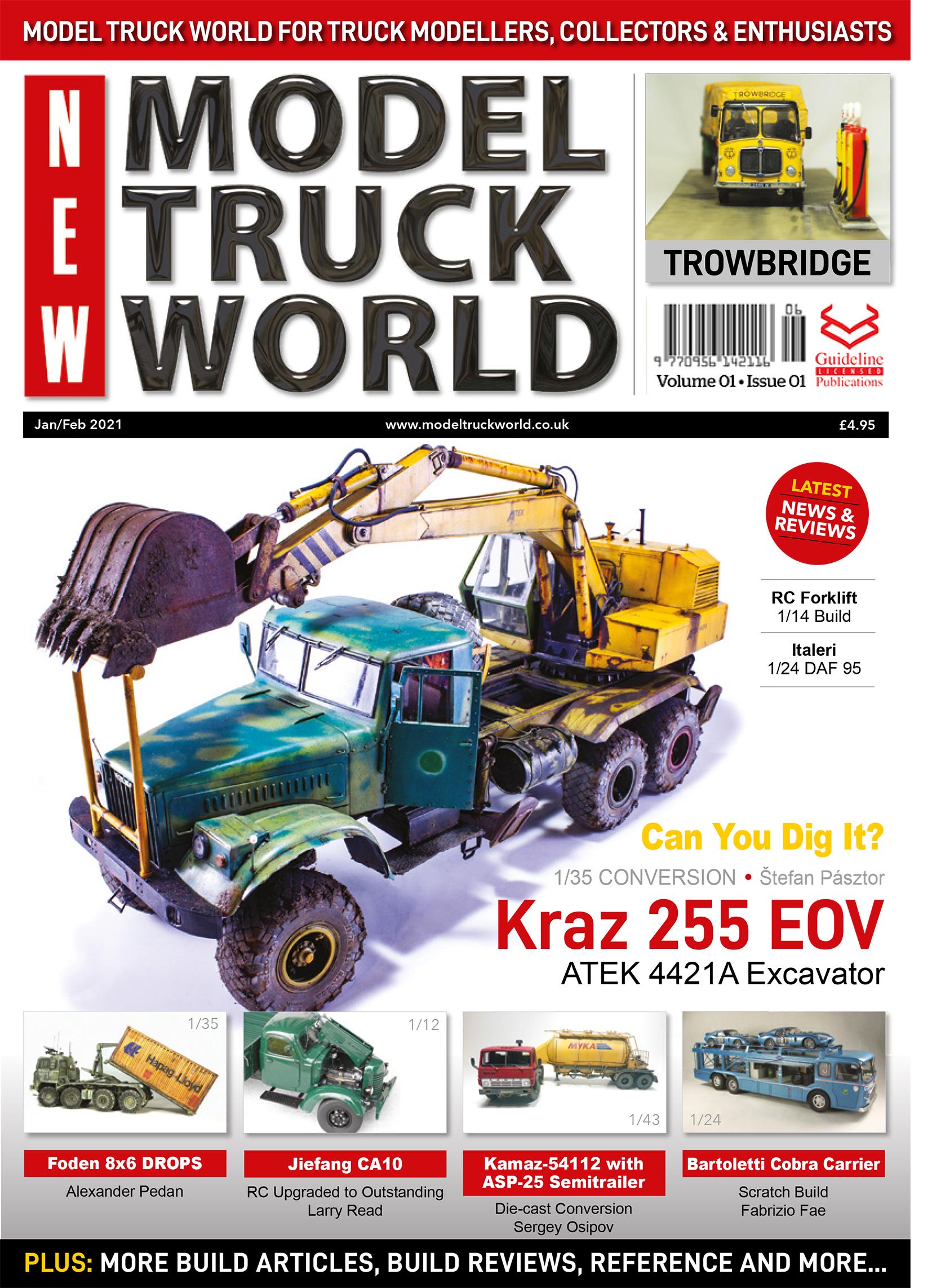 Guideline Publications New Model Truck World  -  Vol 01 - Issue 01  Jan/Feb 2021 On sale NOW