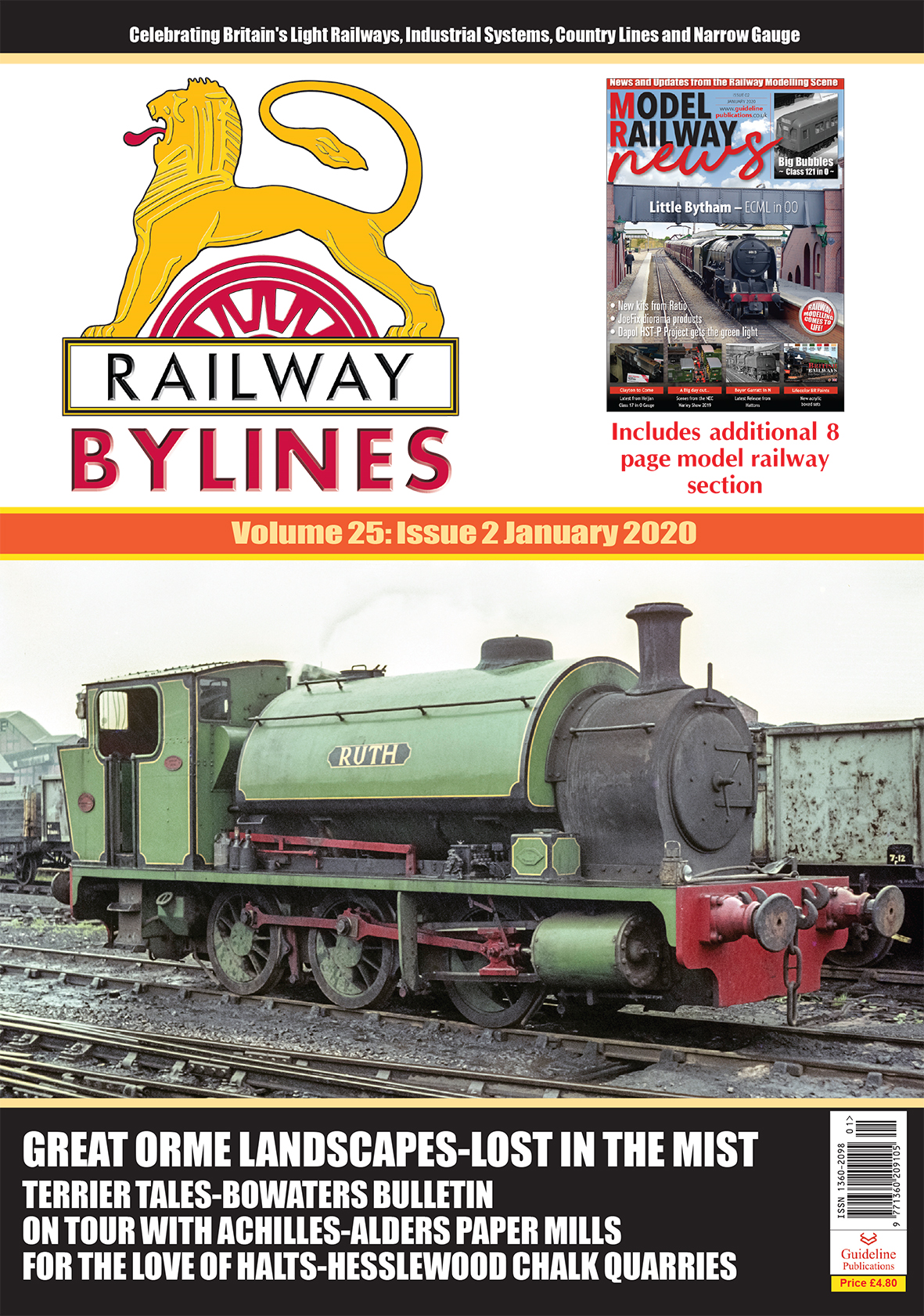 Guideline Publications Railway Bylines  vol 25 - issue 2 January 2020