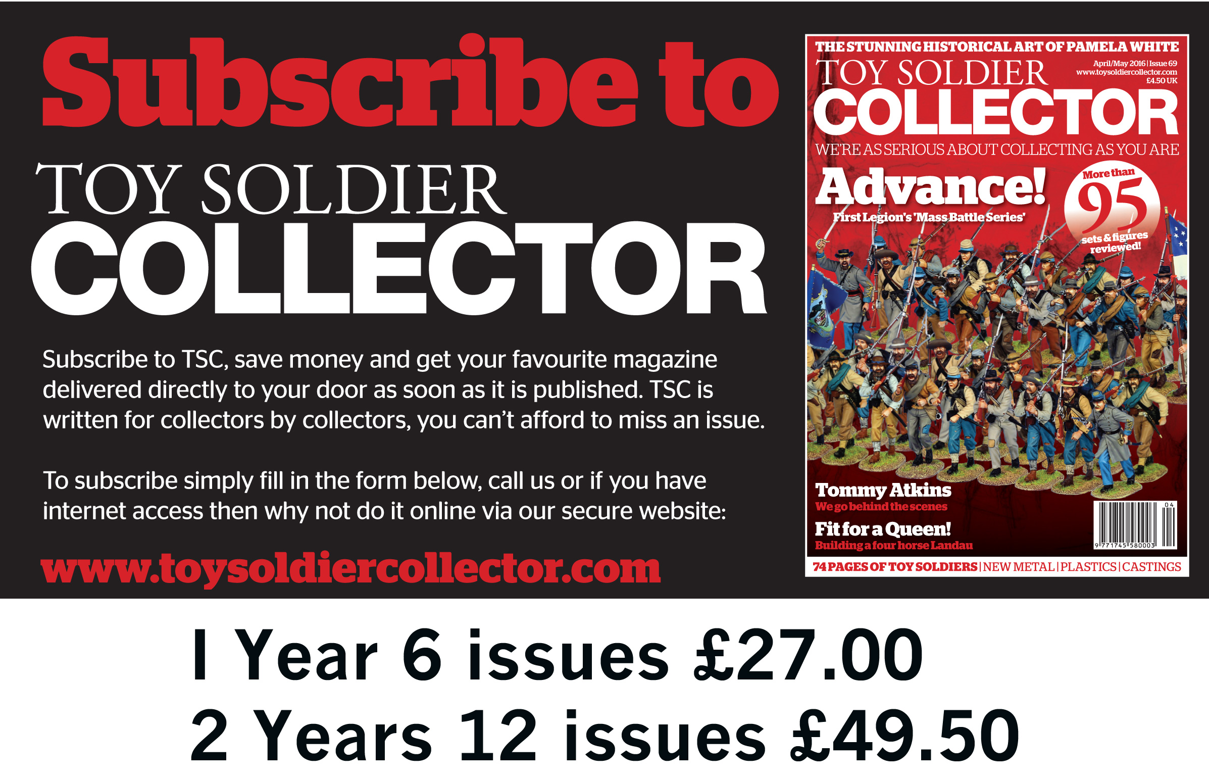 Guideline Publications Toy Soldier Collector - 2 Year (12 Issues) Subscription
