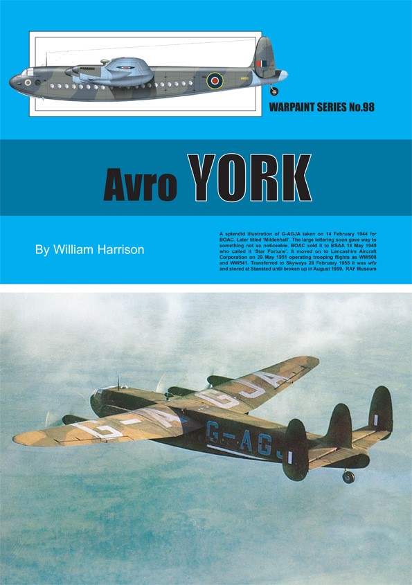 Guideline Publications No 98 Avro York No. 98 in the Warpaint series