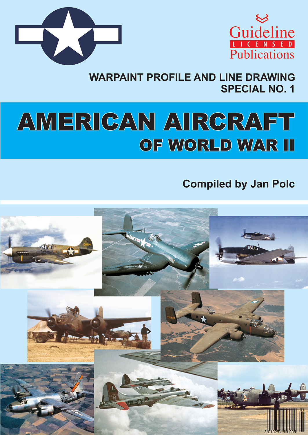 Guideline Publications American Aircraft of WW11 Warpaint Profile & Line Drawings no 1